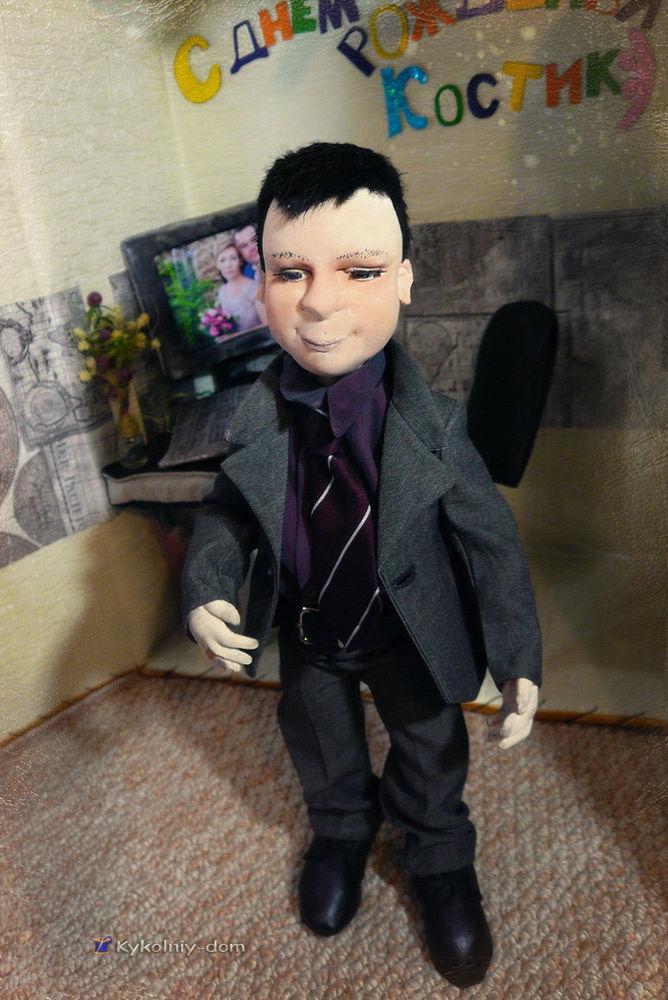 подарок для мужчины, текстильная кукла