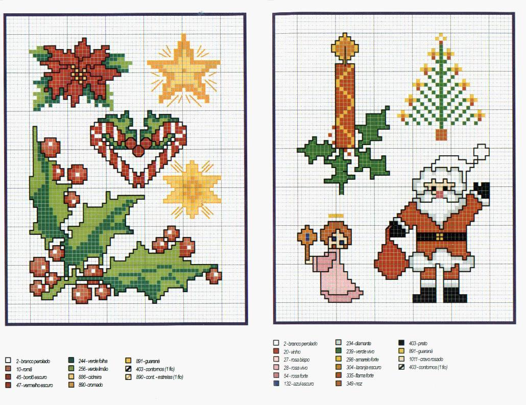 Картинки вышивки крестиком новый год и схемами