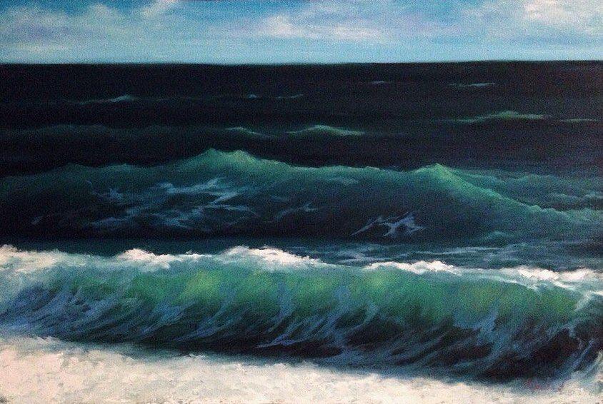 масляная живопись, творчество, море