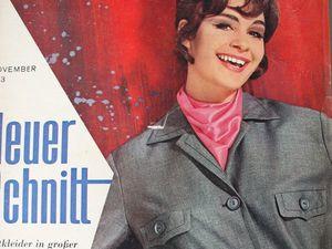 Neuer Schnitt — старый немецкий журнал мод 11/1963. Ярмарка Мастеров - ручная работа, handmade.