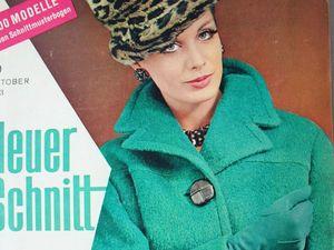 Neuer Schnitt — старый немецкий журнал мод 10/1963. Ярмарка Мастеров - ручная работа, handmade.