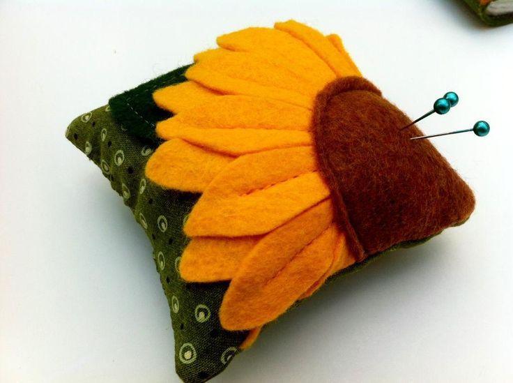 - Sunflower Pin Cushion