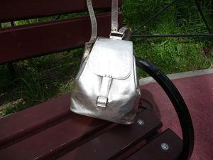 Аукцион на кожаный серебряный рюкзак. Ярмарка Мастеров - ручная работа, handmade.