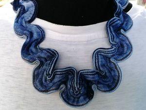 Шьем колье из джинсового пояса. Ярмарка Мастеров - ручная работа, handmade.