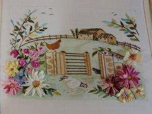 Чудесная вышивка от Elizi в сочетании различных техник. Ярмарка Мастеров - ручная работа, handmade.