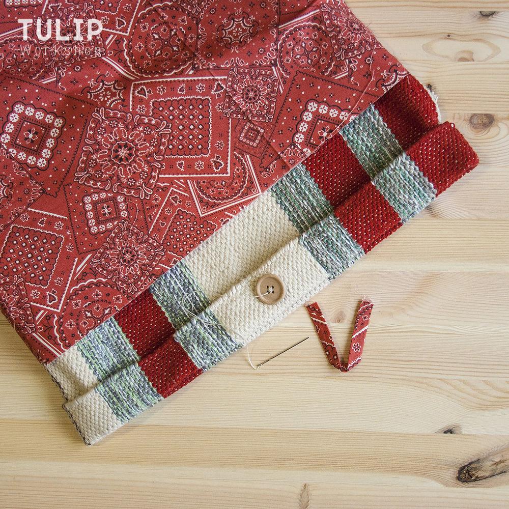 Шьем сумку-шоппер из домотканого коврика без выкройки, фото № 8