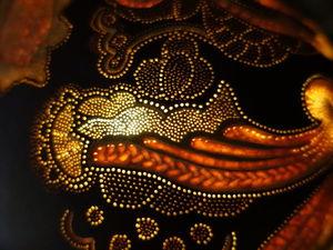 Designer handmade lamp from a pumpkin The Mystery of the Forest. Ярмарка Мастеров - ручная работа, handmade.