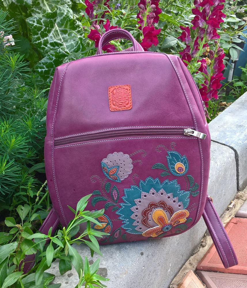 рюкзаки, женский рюкзак кожаный, городской кожаный рюкзак, красивые рюкзаки, готовые работы
