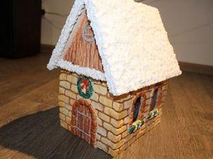 Делаем из соленого теста новогодний светящийся домик. Ярмарка Мастеров - ручная работа, handmade.