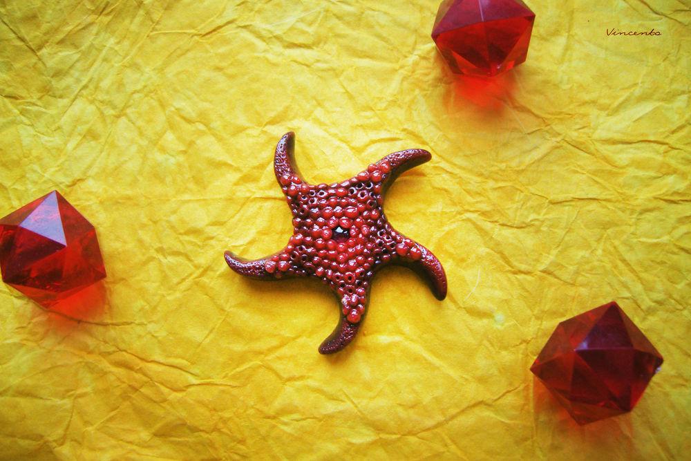 аукцион с нуля, брошь, брошь звезда, морская звезда, море, натуральный родолит, брошь с камнем, приключения, день святого валентина, тропики