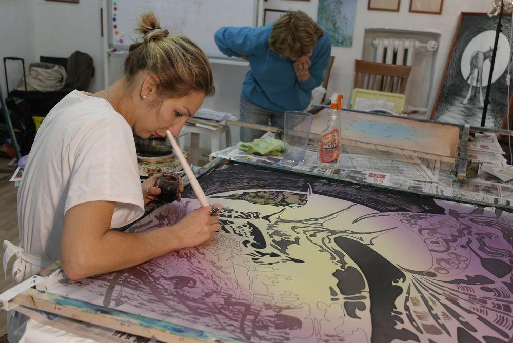 роспись ткани, мк натальи сафоновой