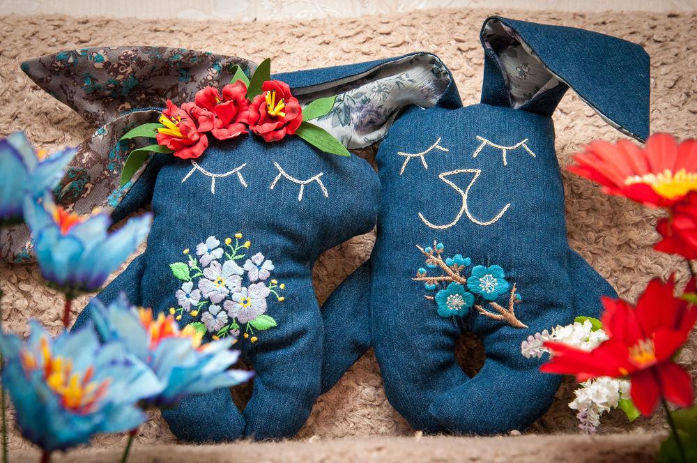 джинсовые игрушки, подарки покупателям, сувениры ручной работы