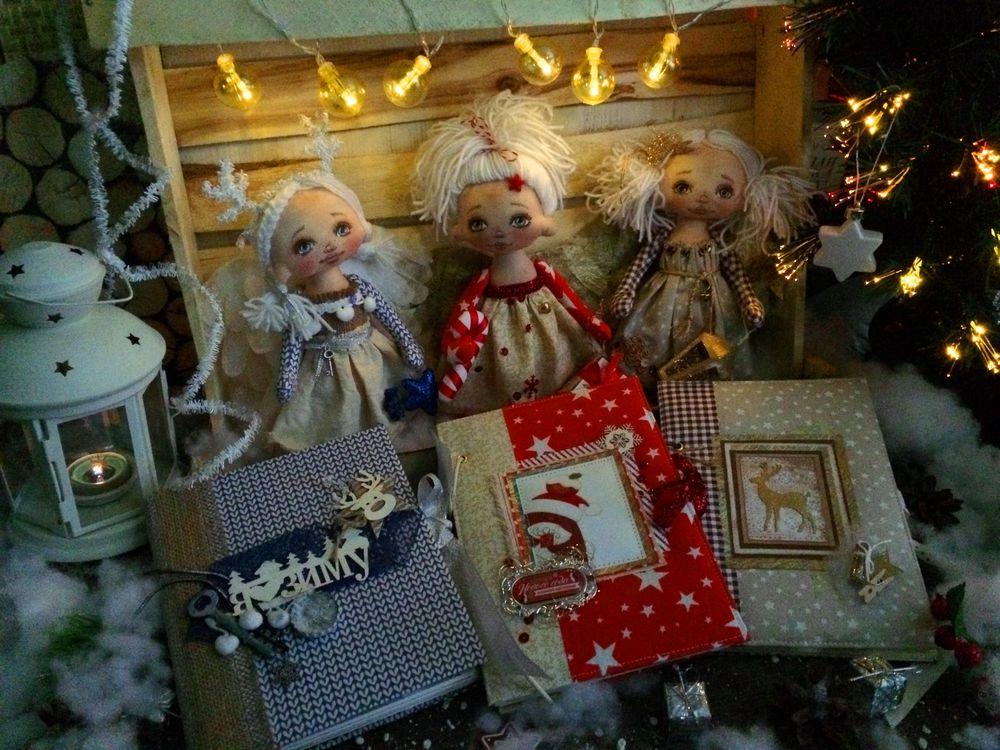кукла текстильная, фотоальбом новогодний, памятный подарок