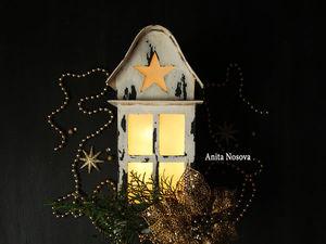 Видео мастер-класс: создаем душевный декоративный светильник «Рождественский фонарь» в технике картонаж и декорируем его красками. Ярмарка Мастеров - ручная работа, handmade.