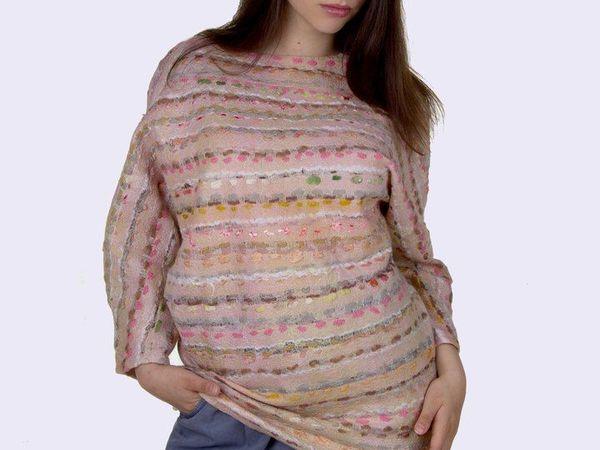 Новые работы. Тонкий и невесомый войлочный свитер | Ярмарка Мастеров - ручная работа, handmade