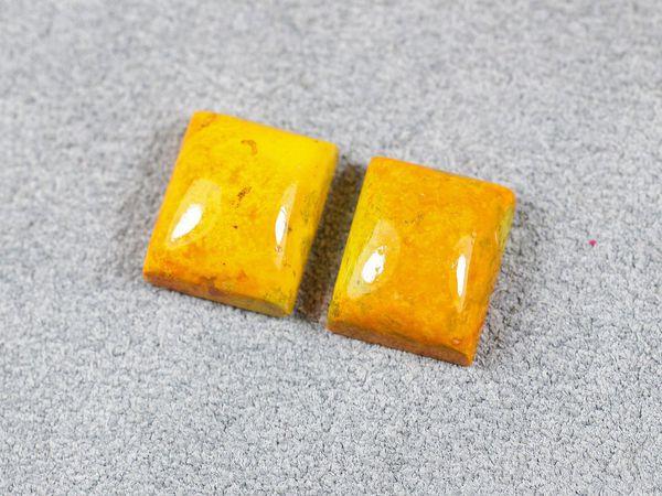 Видео парная жёлтая яшма