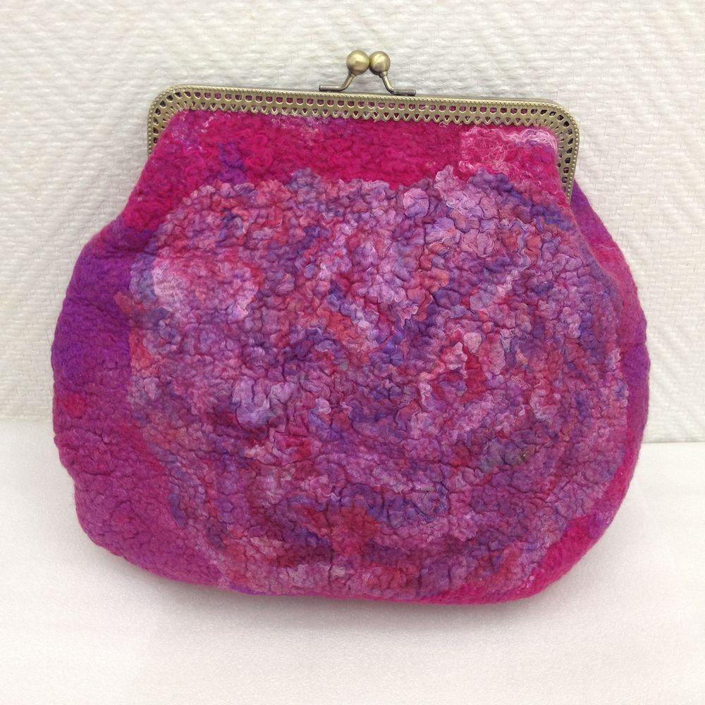 Изящная валяная сумочка с фермуаром, фото № 28
