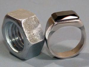 Как сделать мужской перстень из обычной гайки. Ярмарка Мастеров - ручная работа, handmade.