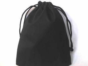 Теперь кожаные черные мешочки двух размеров: 7х9 см и 9х12 см. Ярмарка Мастеров - ручная работа, handmade.