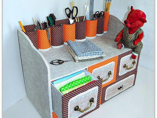Делаем из картона вместительный комод с выдвижными ящичками для рукоделия | Ярмарка Мастеров - ручная работа, handmade