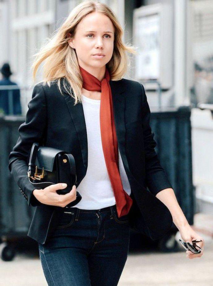 Длинный узкий шарфик: как и с чем носить этот стильный аксессуар, фото № 8