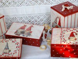 Немного сказки — новогодние гномы ниссе. Ярмарка Мастеров - ручная работа, handmade.