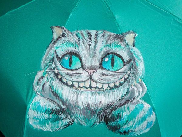 Зонт-трость с рисунком на заказ  за 1390 руб. До 30.09.16!   Ярмарка Мастеров - ручная работа, handmade
