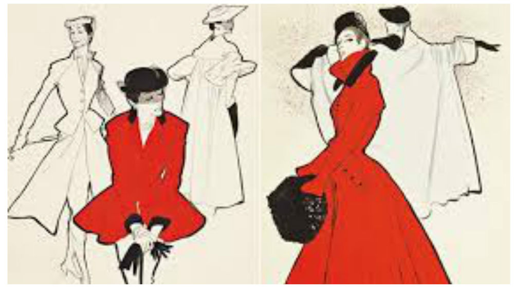 диор, иллюстратор, классический стиль