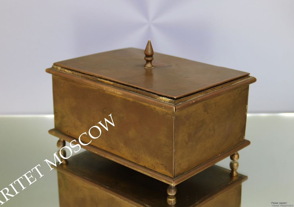 бронзовая шкатулка