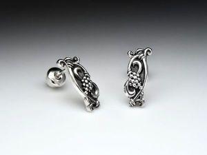 Розыгрыш конфетки - серьги Лоза из серебра 925 пробы.. Ярмарка Мастеров - ручная работа, handmade.