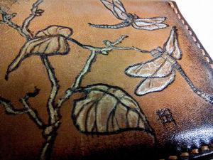Стрекозы на коже. Ярмарка Мастеров - ручная работа, handmade.