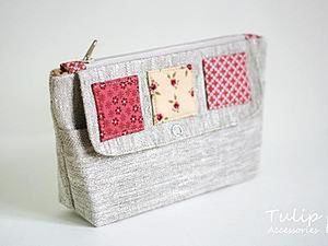 Sewing A Linen Cosmetic Bag with Two Compartments. Livemaster - handmade