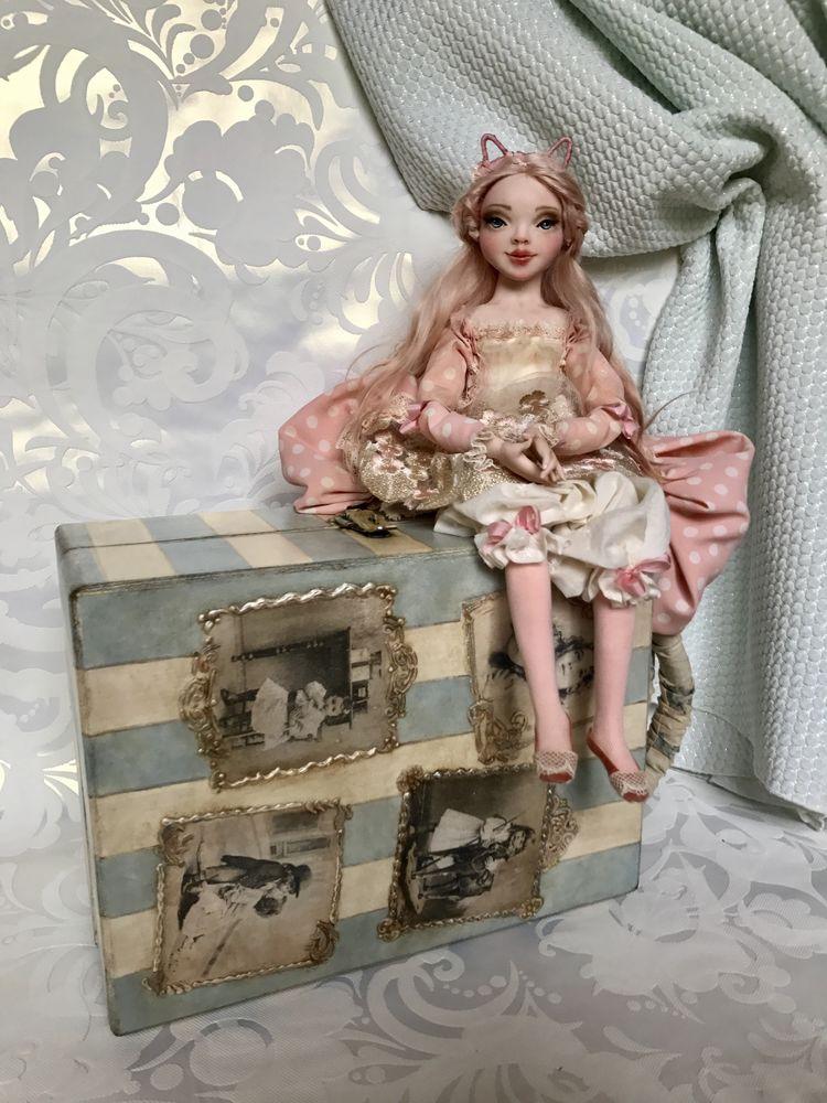 чемоданчик, куклы ручной работы