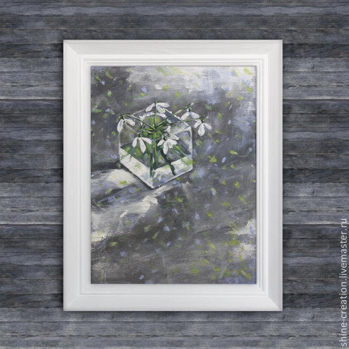 подарок, конфетка, 8 марта, подснежники, картина, халява