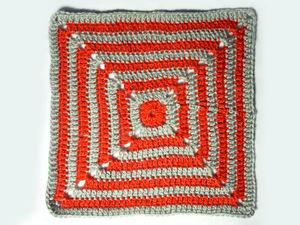 Самый простой «бабушкин квадрат» крючком. Ярмарка Мастеров - ручная работа, handmade.