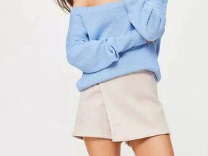 Голубой свитер! | Ярмарка Мастеров - ручная работа, handmade