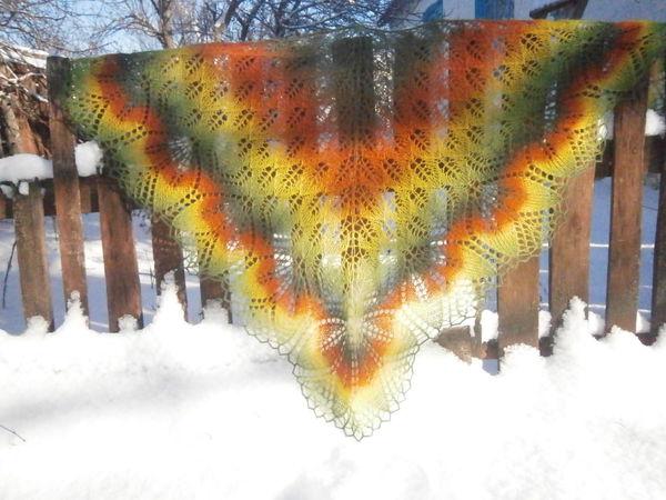 Аукцион на замечательную шаль Харуни | Ярмарка Мастеров - ручная работа, handmade