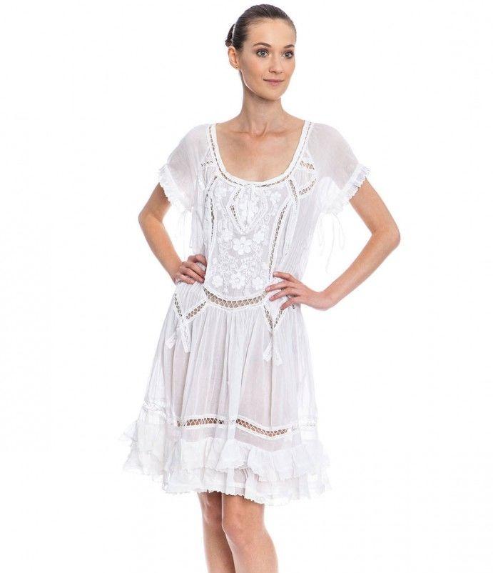 Белое бохо, или Шикарная одежда для королевы летнего пляжа, фото № 110