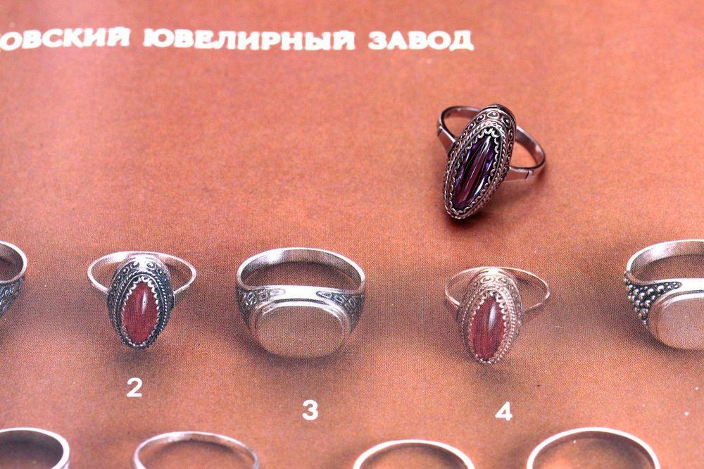 серебро 875 пробы, винтаж ссср, корунд, 1985 год