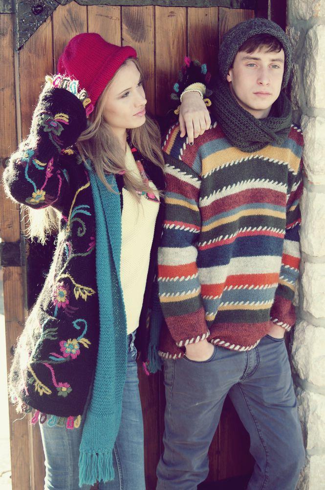 sirogojno style купить, джемпер унисекс, ручное вязание