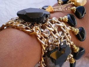 РАСПРОДАЖА! Спешите! Black Magic Woman Браслет натуральные камни. Ярмарка Мастеров - ручная работа, handmade.