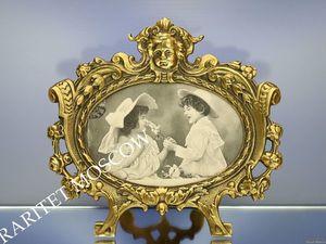 Раритетище Рамка ангел бронза Depose 19век 63. Ярмарка Мастеров - ручная работа, handmade.