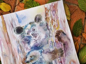 Фонд Забытые животные и новая картина акварелью. Ярмарка Мастеров - ручная работа, handmade.