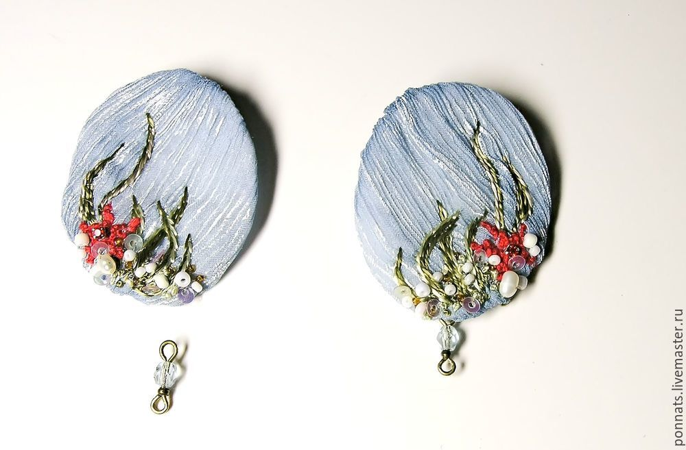 Modeling Textile Earrings with Embroidery, фото № 20