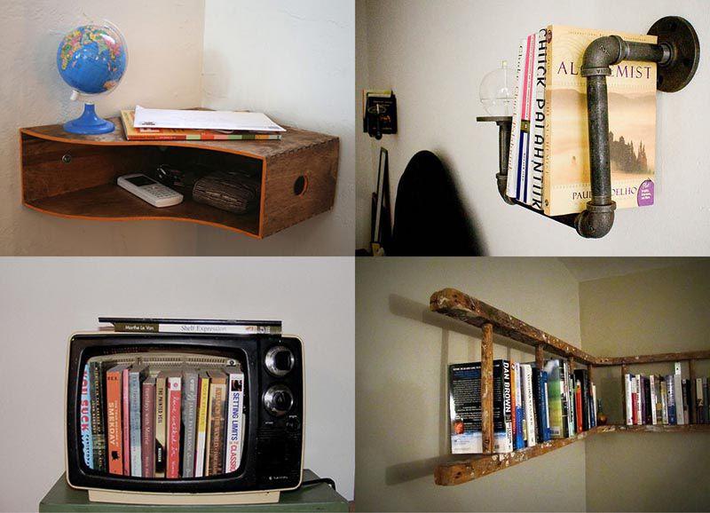 Как своими руками сделать полки для книг своими руками фото