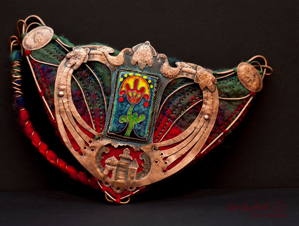 олеся рубинова, copper necklace