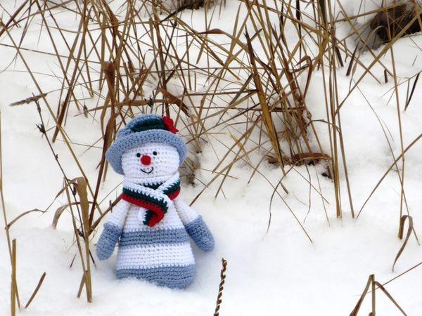 Друзья! Прошу поддержать голосом моего снеговичка! | Ярмарка Мастеров - ручная работа, handmade