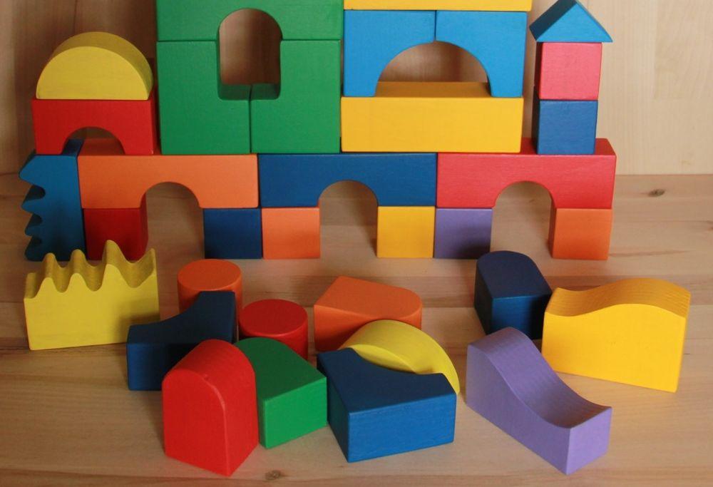 безопасная краска, окраска игрушек, развивающие игрушки, кубики крашеные