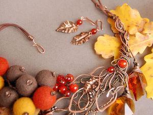 119785d79d5b Осень — время контрастов! Совмещаем несовместимое в необычном украшении  «Осеннее настроение»