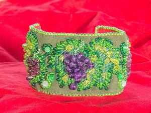 Творим браслет «Виноград» из камней и бисера. Ярмарка Мастеров - ручная работа, handmade.